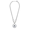 Cristina Sabatini: CS Peonia Necklace - White and Black Rhodium