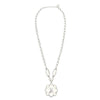 Cristina Sabatini: CS Peonia Necklace - Clear and Rhodium