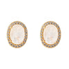 Aquila Stud Earrings - Moon - 18K Gold Plated