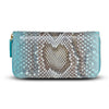 Accessories- Women's Wallets - Camilla Wallet -Aqua Python Snakeskin Leather by Cristina Sabatini Full Product View
