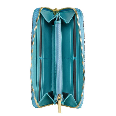 Accessories- Women's Wallets - Camilla Wallet -Aqua Python Snakeskin Leather by Cristina Sabatini Inside of the Wallet