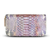 Accessories- Women's Wallets - Camilla Wallet - Shimmering Pink Python Snakeskin Leather Cristina Sabatini