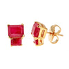 Lyra Earrings - Ruby - Gold Plated