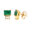 Lyra Earrings - Emerald - Gold Plated