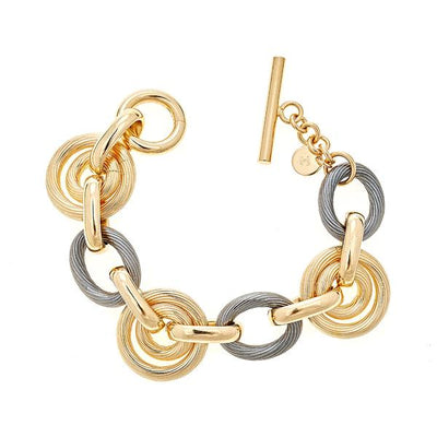 Chain Bracelet by Cristina Sabatini - 18K Gold and Black Rhodium Plated