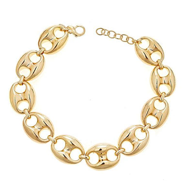 Cristina Sabatini Chain Jewelry - 18K Gold Plated Gear Link Necklace