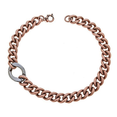 Cristina Sabatini Chain Jewelry - Antique Bronze Libero Chain Necklace