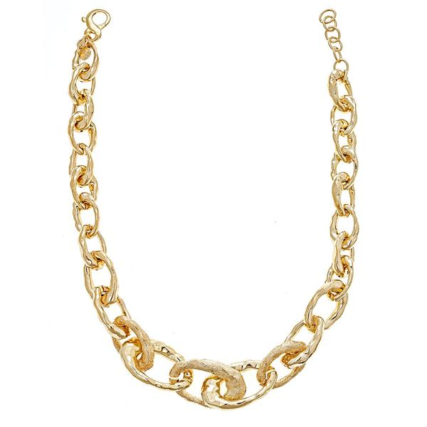 Chain Link Necklace - 18K Gold Plating