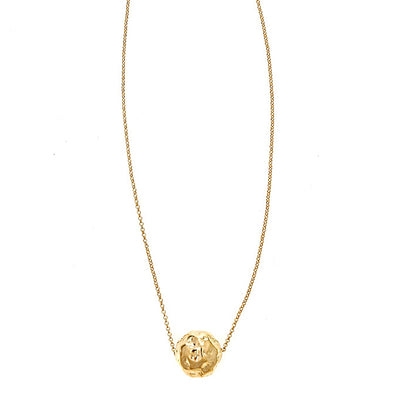 Cristina Sabatini Chain Jewelry - 18K Gold Hammered Ball Necklace