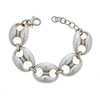 Cristina Sabatini Chain Jewelry - Antique Silver Gear Link Bracelet