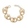 Cristina Sabatini Chain Jewelry - Antique Bronze Gear Link Bracelet