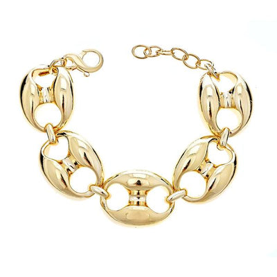 Cristina Sabatini Chain Jewelry - 18K Gold Plated Gear Link Bracelet