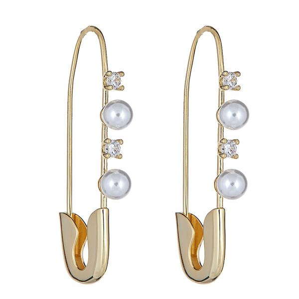 18K Gold Safety Pin Earring by Cristina Sabatini