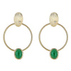 Cristina Sabatini 18K Gold Hoop Earring - Locus Earring with Green Agate
