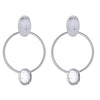 Cristina Sabatini Silver Hoop Earring - Locus Earring with Clear Quartz