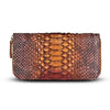 Camilla Wallet - Chestnut Python Snakeskin Leather