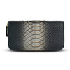 Camilla Wallet - Gold Hue Black Python Snakeskin Leather