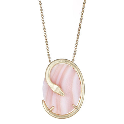 Oval Snake Necklace