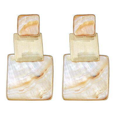 Box Stacked Earring