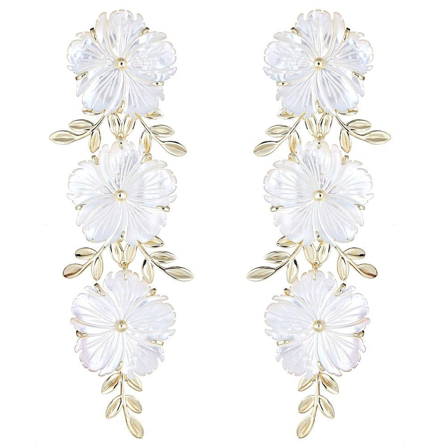 Cascading Rose Earring