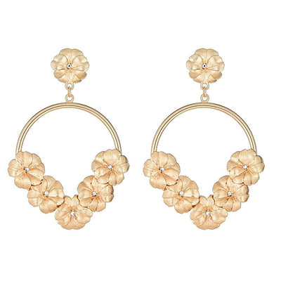 Flower Knocker Earring 18K Gold Plated