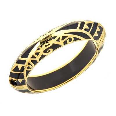 MP Edge Bangle Bracelet - 18K Gold Plated