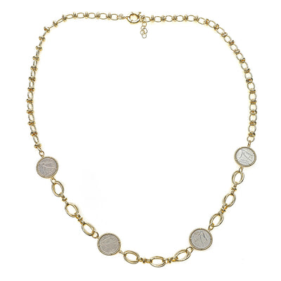 Kat Four Coin Chain Necklace