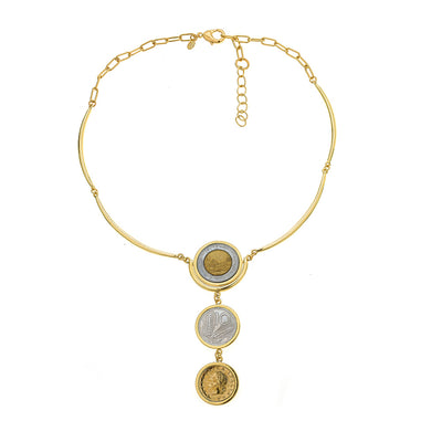 Ann Drop Coin Necklace