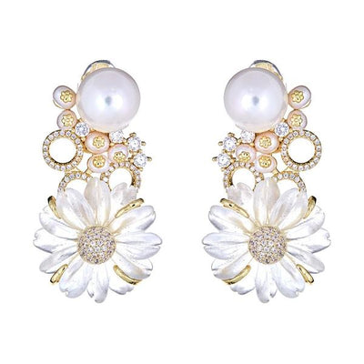 Daisy Clip On Earrings