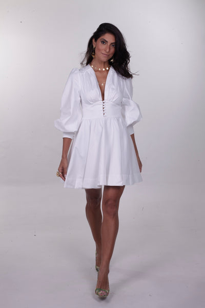 Emilia Mini Dress - White