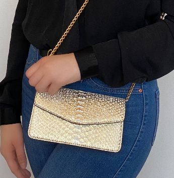 Chiara Wallet  Gold White