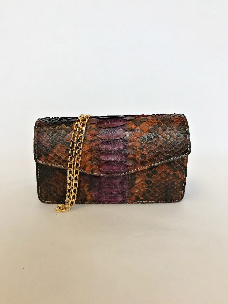 Chiara Wallet - Purple Brown