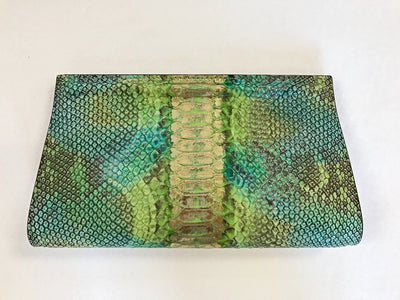 Emilia Clutch - LimeGreen/Gold