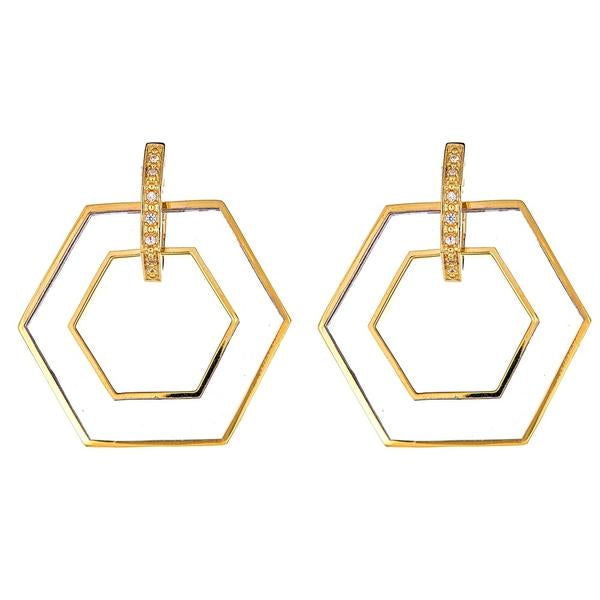 Hexagon Earring
