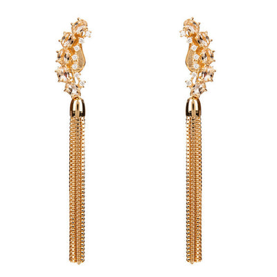 Lianas Earrings - White Topaz - Gold Plated