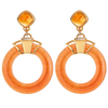 Shenu Earrings - Carnelian Gemstone