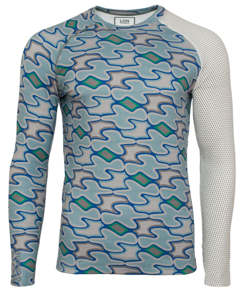 Men's Thermal Shirt - Crew Neck - Cattrax Slate Bluebs Grey (1M101156)