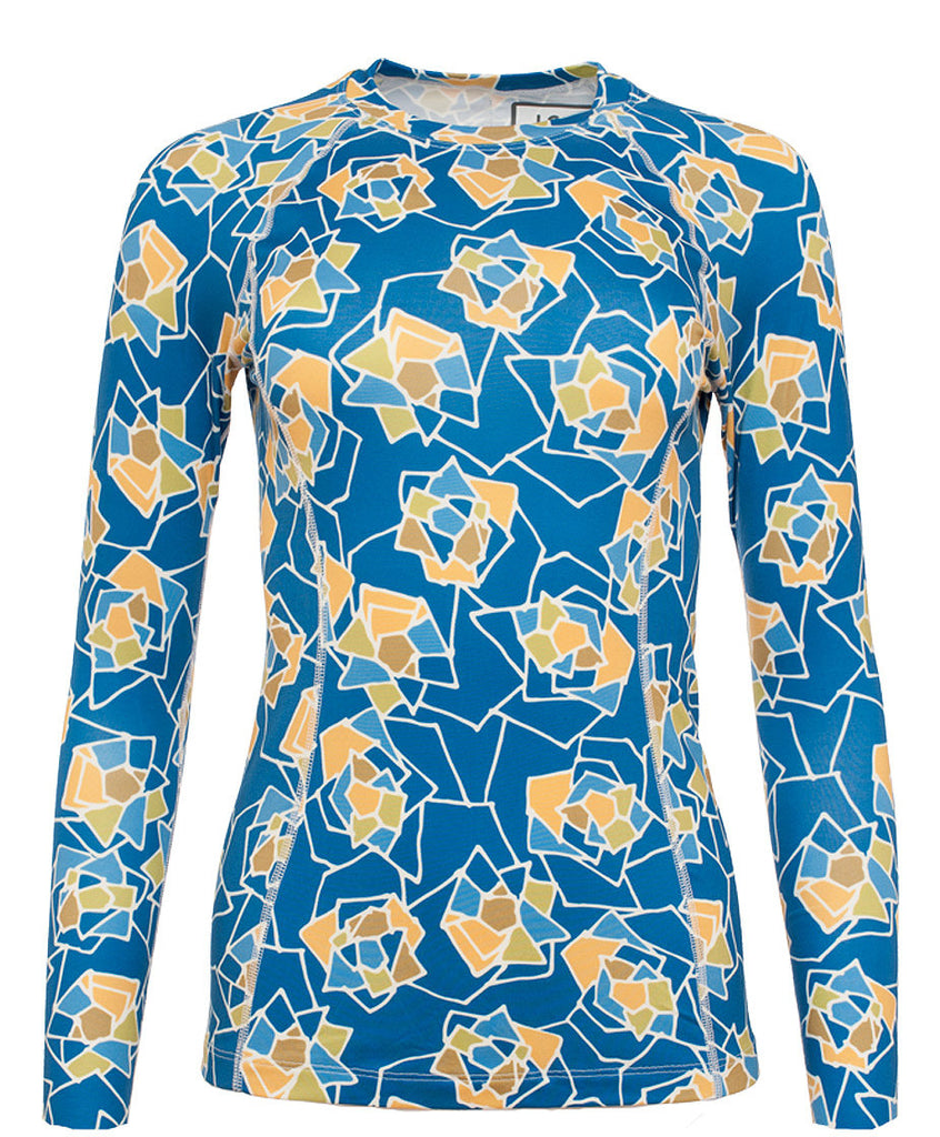 Women's Thermal Shirt - Crew Neck - Rose Azure (1W101153)
