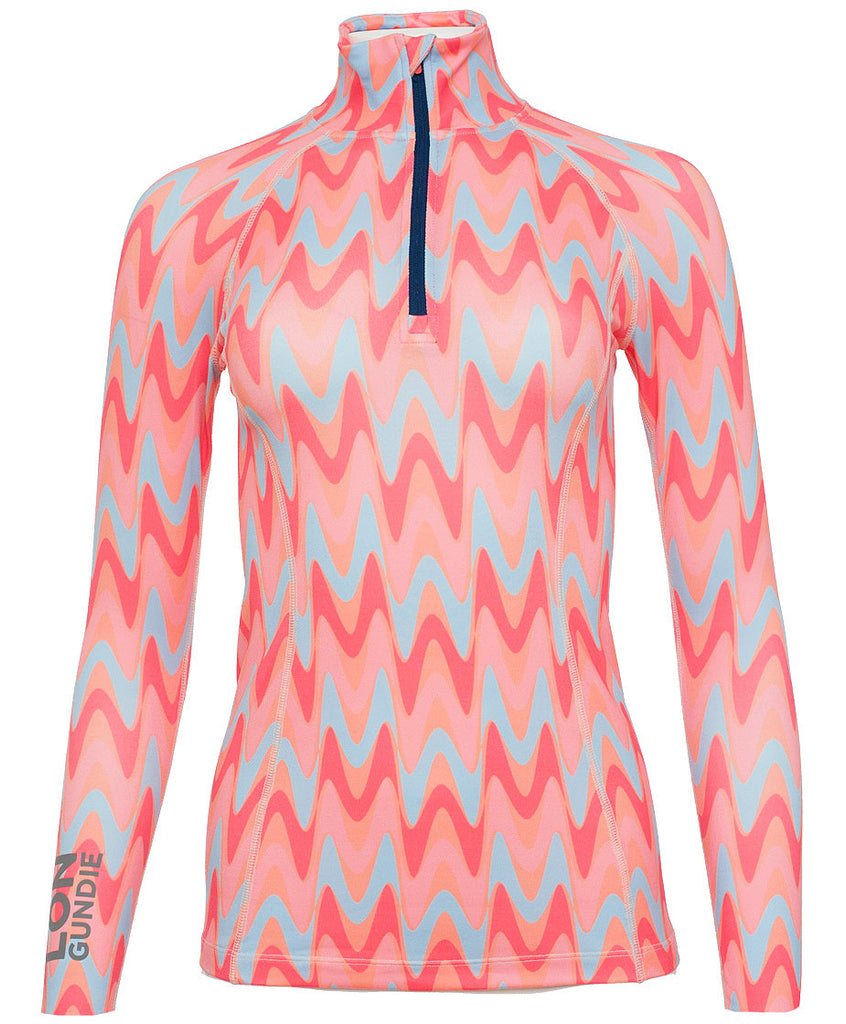 Women's Thermal Shirt - 3/4 Zip - Avas Sherbet (1W102151)