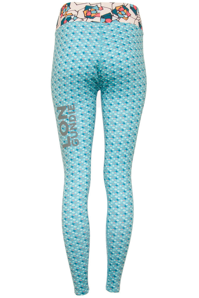 W's Legging - Diamond Turquoise Rose Buff