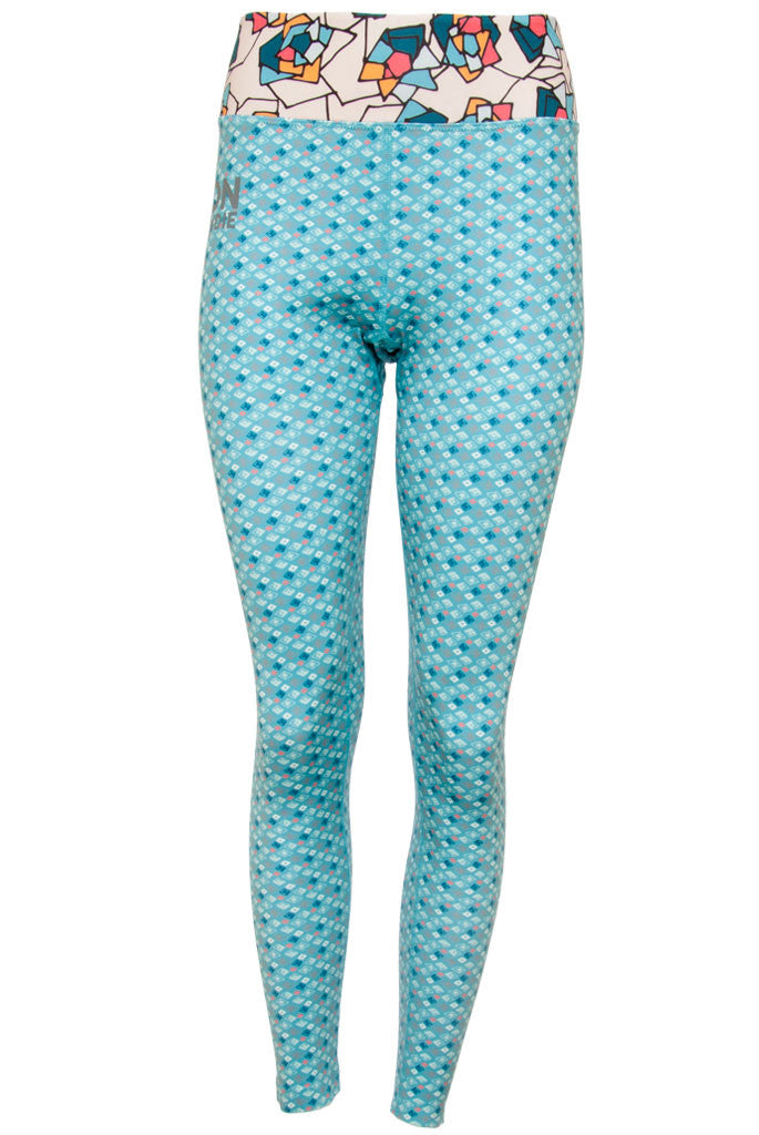 Women's Legging - Diamond Turquoise Rose Buff (1W601107)