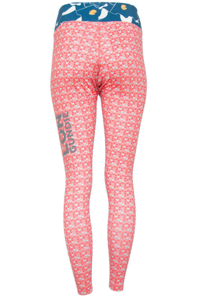 W's Legging - Heart Rouge Alps Teal