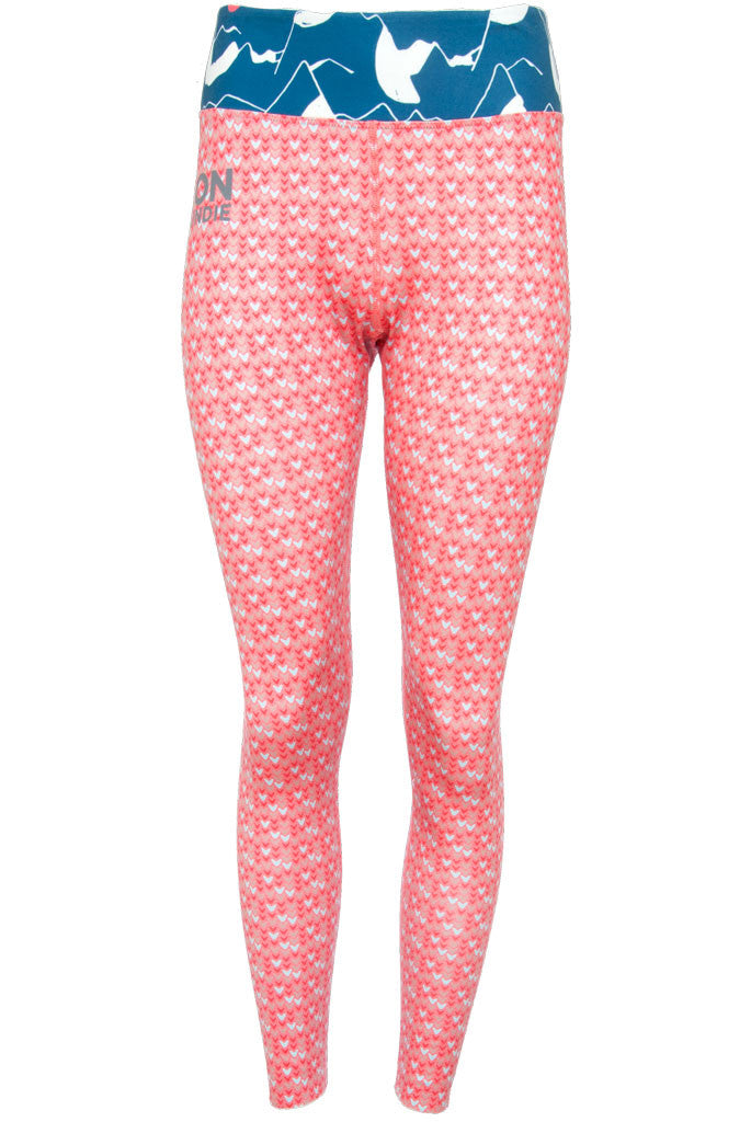 Women's Legging - Heart Rouge Alps Teal (1W601109)