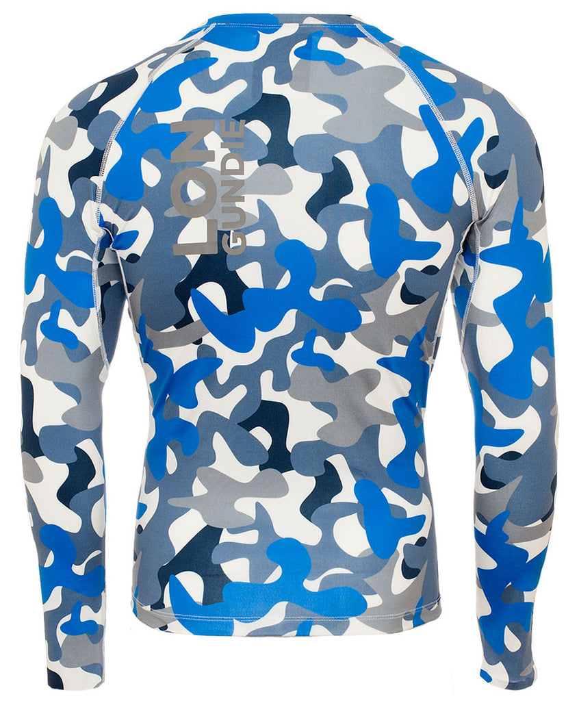 M's Crew Neck Rash Guard - Camo Grey