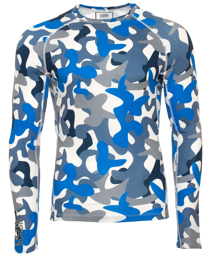 Men's Crew Neck Rash Guard - Camo Grey (2M101119)