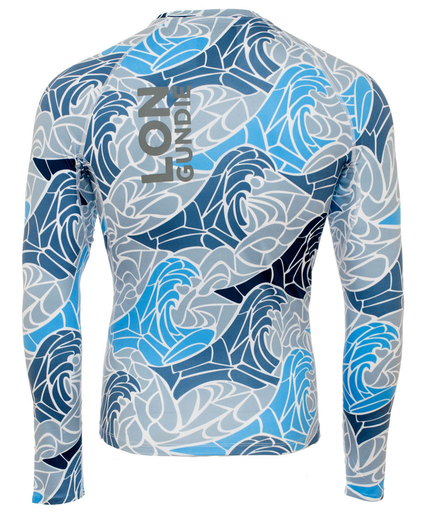 M's Crew Neck Rash Guard - MdP Grey