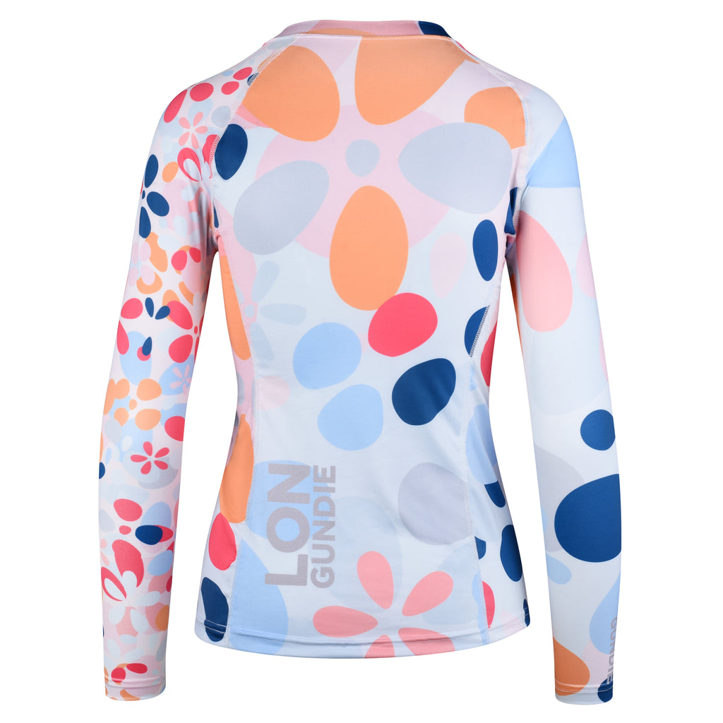 WOMEN RASH GUARD TOP LONG SLEEVE PINK | LON GUNDIE
