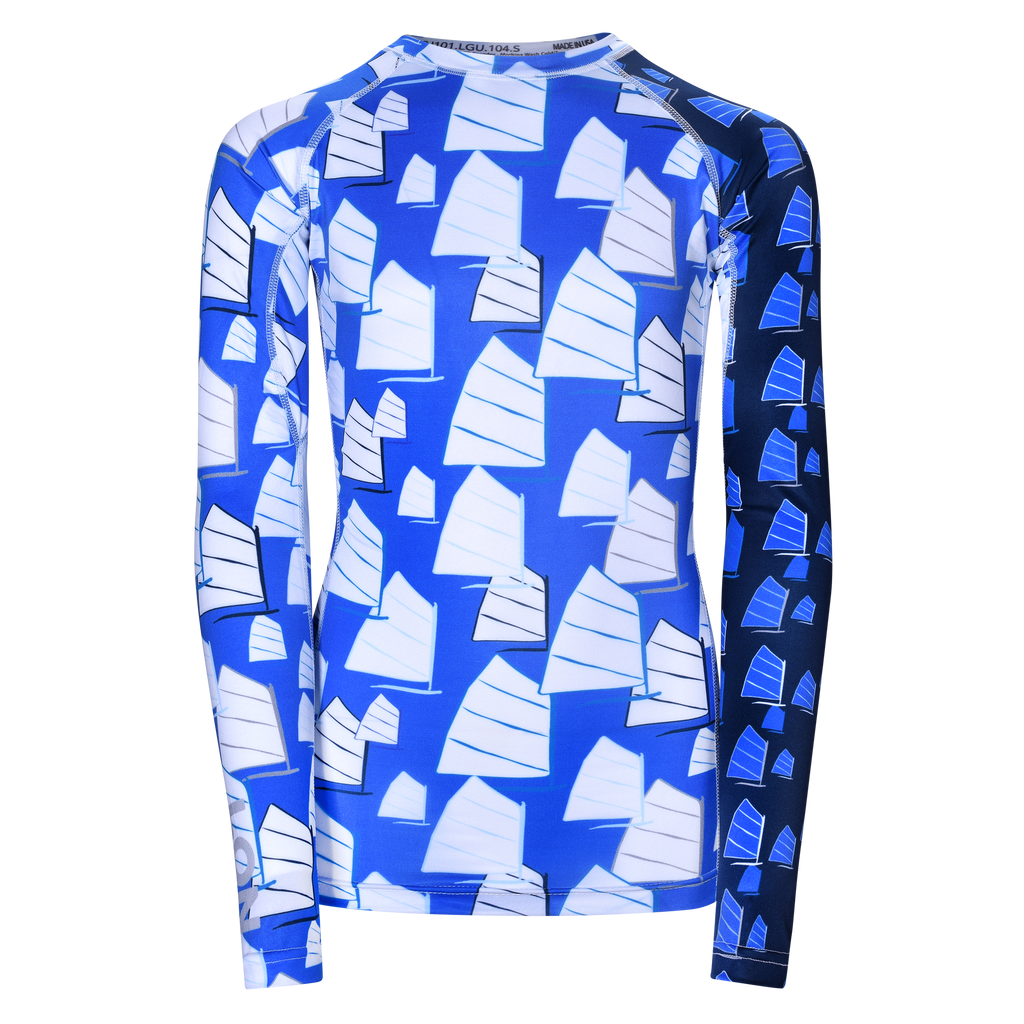 JR RASH GUARD TOP LONG SLEEVE BLUE | LON GUNDIE