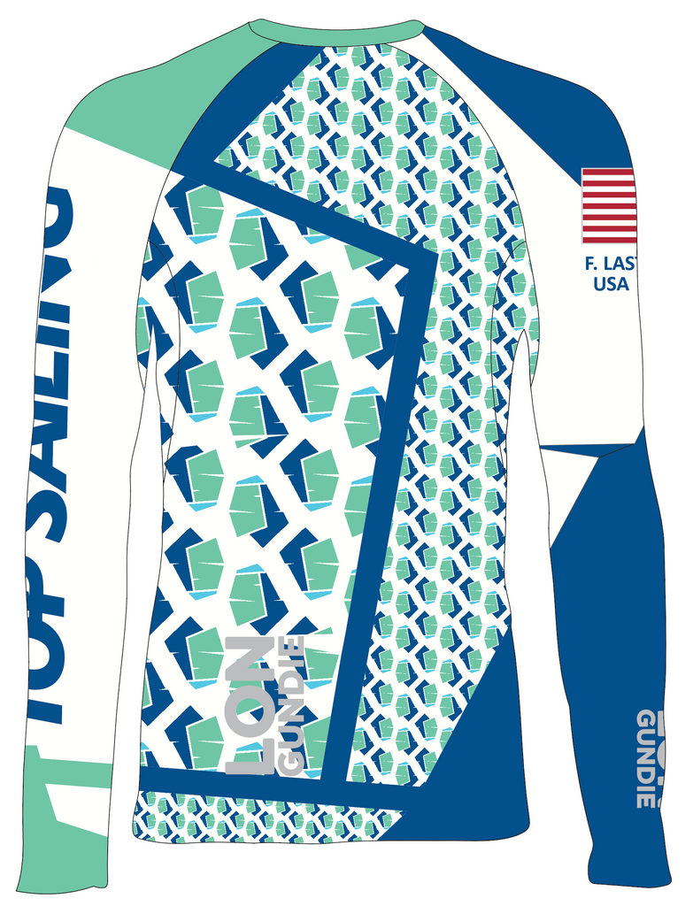 Jr's Rash Guard - Juan Mazzini Top Sailing - PERSONALIZED