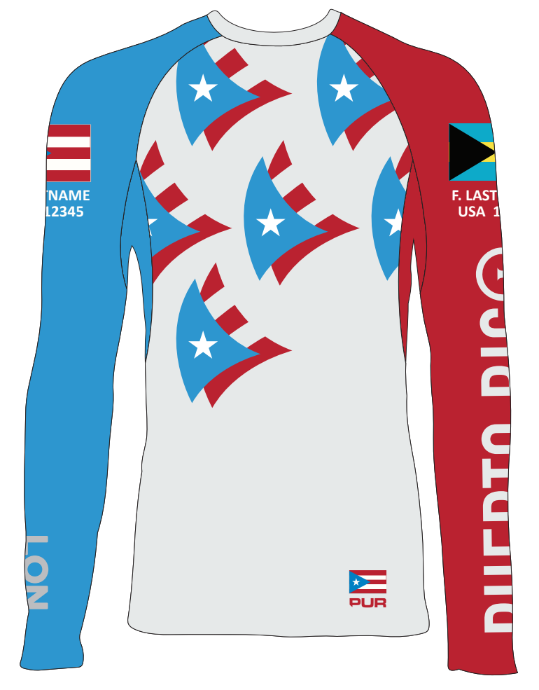 Jr's Rash Guard - Puerto Rico Nam - Personalized